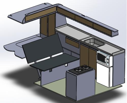 Imagem 1 de 2 de Projeto E Fabricação Kombi Home Kombihome Motorhome