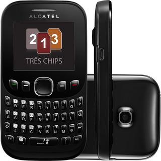 Celular Ot 3000 Teclado Qwerty 3 Chip Câm Vga Mp3 Rádio Fm