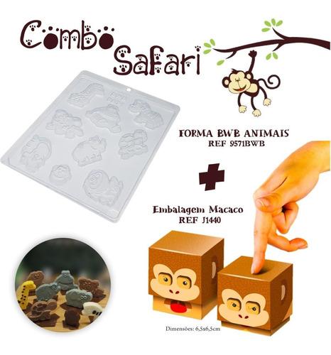 Imagem 1 de 1 de 1 Forma Bwb Safari + 10 Caixas Macaco Dia Das Crianças