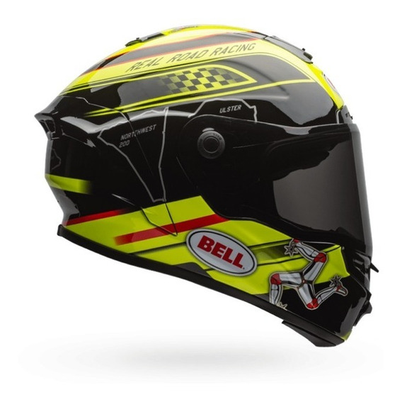 Capacete Bell Star Isle Of Man Preto/amarelo Rs1