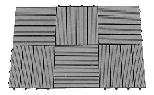 Abba Patio 12 X 12 Pulgadas Outdoor Four Slat Madera-plásti
