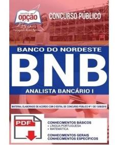 Apostila Completa - Banco Do Nordeste 2018 + 2 Aulas