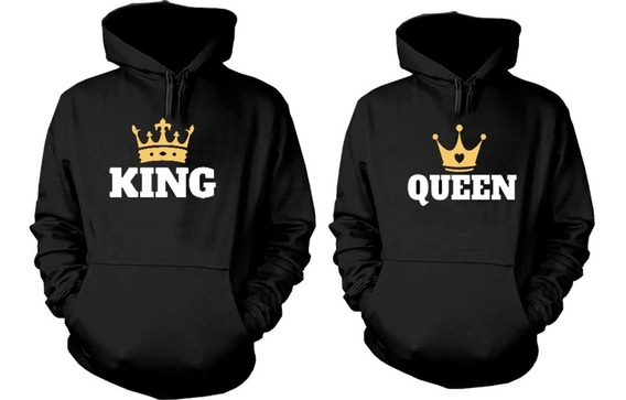 Sueter Sweater King & Queen, Enamorados, Novios, Parejas