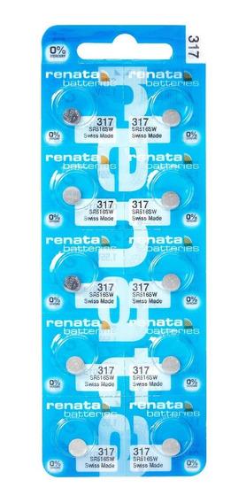 Pilhas Baterias 317, Relógio 1.55v Renata Sr516s Original 10