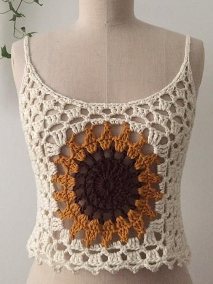 Blusa Dama Tejida Crochet