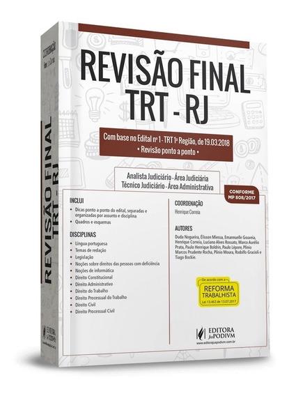 Revisão Final Trt Rj (2018)