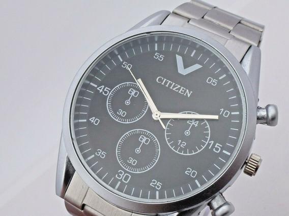 Reloj A Cuarzo Niquel Satin Dial Negro Japan (2)