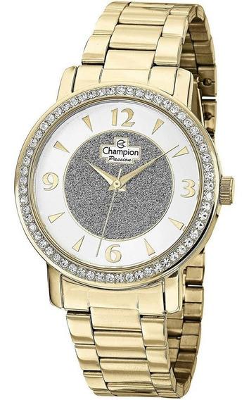 Relógio Pulso Champion Dourado Cód1 Feminino Original