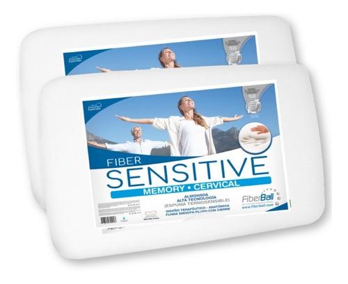 Combo Dos Almohadas Cervical Inteligente Fiberball Sensitive