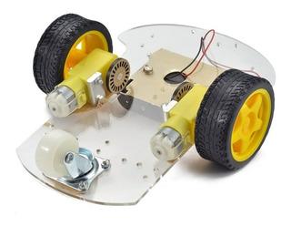 Kit Chasis Robot Auto Smart Car 2wd 2 Motores Arduino