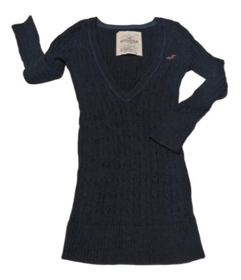 Suéter Azul Marino. Talla S. Hollister.