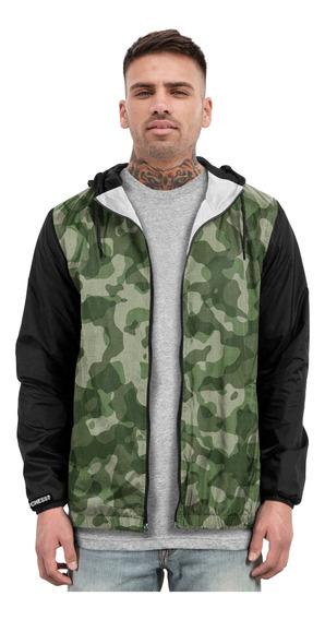 Jaqueta Blusa Casaco Corta Vento Estampado Camuflado Moda