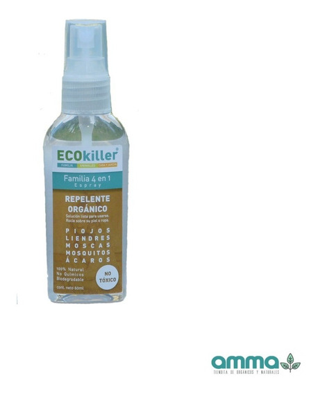 Ecokiller Repelente Orgánico Familia 4 En 1 60ml No Tóxico
