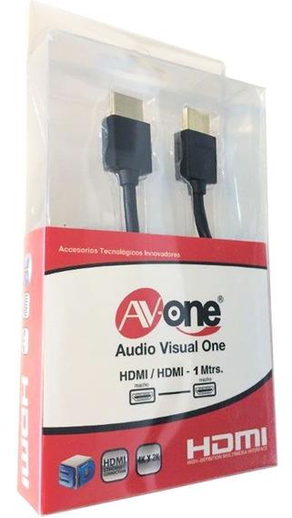 Cable Hdmi Slim 1m Av-one Soporta 4k.