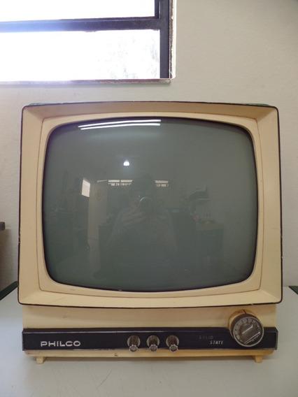 Televisão Antiga - Philco - Solid - Verde - Não Funciona