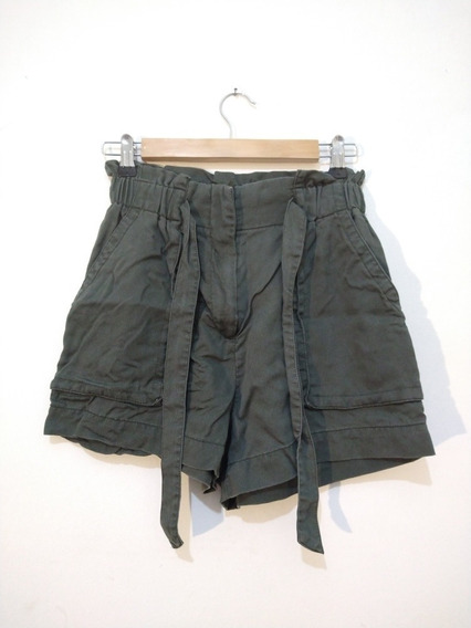Short Verde Militar H&m Talle 34