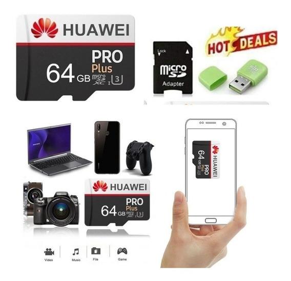 Cartão De Memória Huawei 64gb Original C/adaptador + Brinde