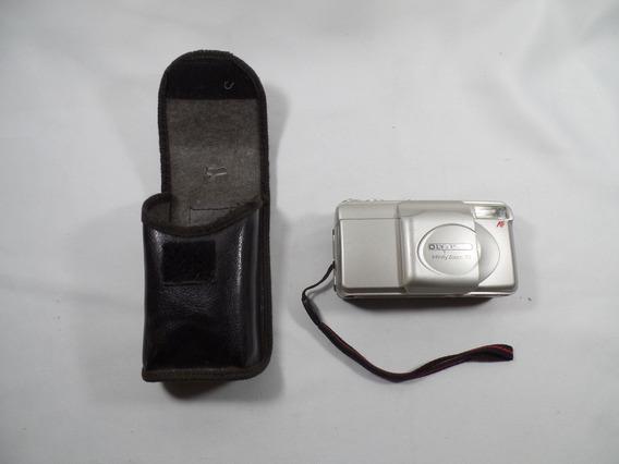 Camera Olympus - Infinity - Zoom 70 - Funcionando - Com Case