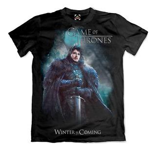 Camiseta Game Of Thrones Jon Snow Winter Is Coming