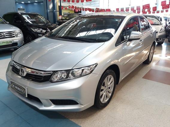 Honda Civic Lxl Flex Automático 2013 * C/ Bcos De Couro