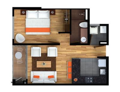 Espectacular Apartamento De 1 Habitación Como Para Estrenar