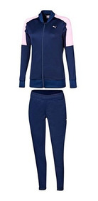 Pants Puma Clean Tricot Suit 854097-06 Marino Rosa Dama Pv