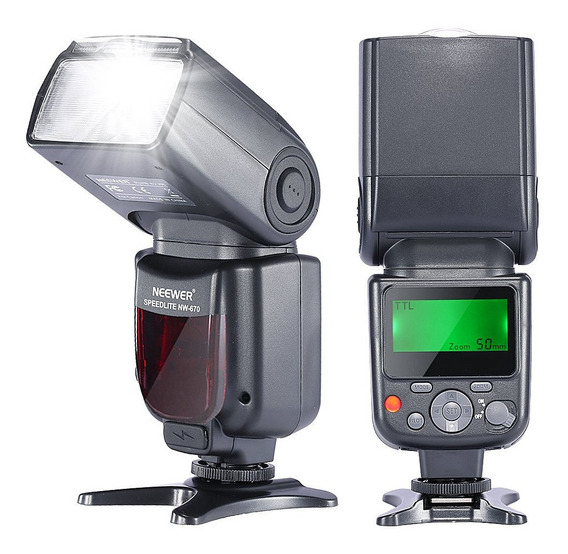 2 Neewer Nw-670 Ttl Flash Speedlite Com Lcd Display + Kit