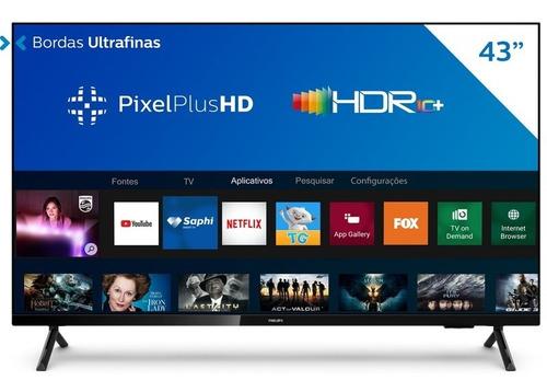 Smart Tv Philips 43'' Fhd 43pfg6825/78  Wifi, 3 Hdmi, 2 Usb