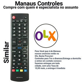 Controle Remoto Para Tv Smart 3d Lg Paralelo Top