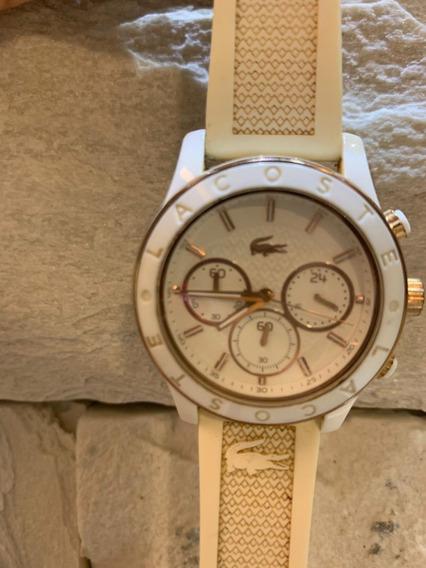 Relógio Lacoste Silicone Branco Feminino Original