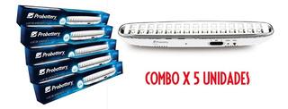 Luz De Emergencia Probattery 30led Combo X5 8hs Autonomía
