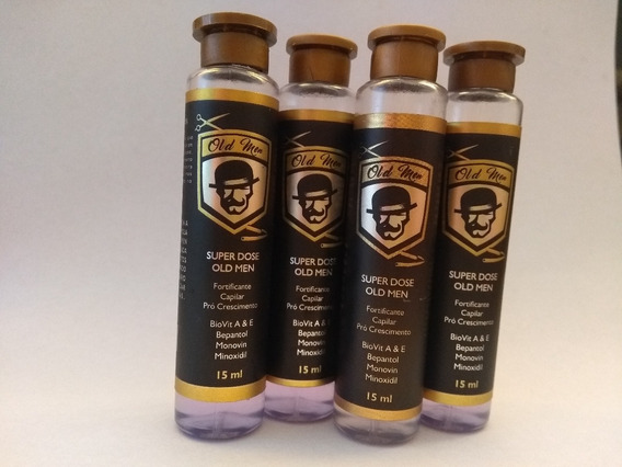 Kit 4 Fortificante Barba Super Dose Old Men 15ml