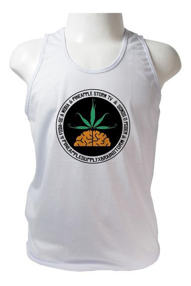 Camiseta Regata Poesia Acústica Pnpl Rap Pineapple Hiphop