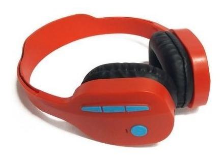 Fone De Ouvido Knup Bluetooth Kp-440 Vermelho