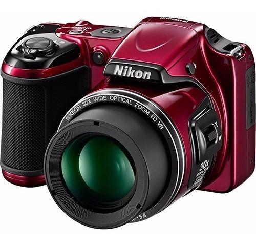Camera Nikon Profissional Seminova Vermelha