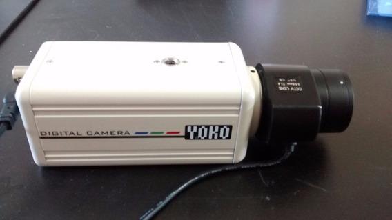 Câmera Profissional Ccd 470 Linhas + Lente Varifocal 3.5/8mm