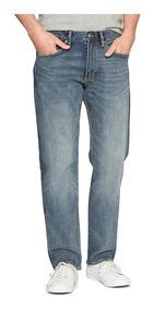 Jeans Hombre Pantalón Mezclilla Straight Recto 185980 Gap