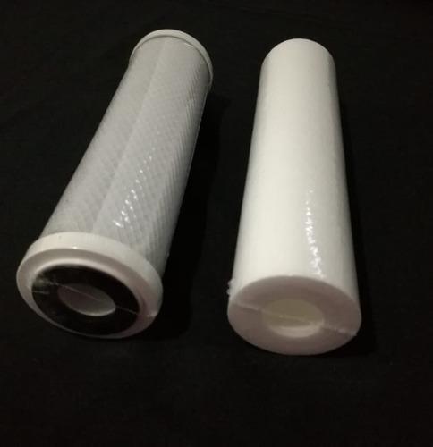 Imagen 1 de 6 de Kit Repuesto Cartucho Filtro Purificador De Agua 2 Etapas