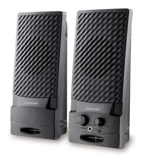Caixa De Som Para Computador 1w P2 Usb Controle De Volume