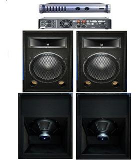 Combo Sonido Profesional 2500w Con Potencia 1200w Apx600!!!!