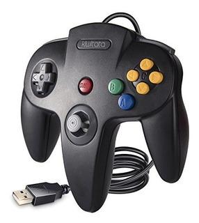 Kiwitat Nintendo 64 N64 Bit Controlador Usb Retro Usb Clasic