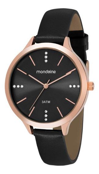 Relógio Preto Rose Mondaine