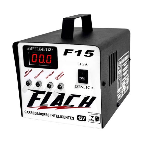 Carregador De Bateria 15a - 12v - Cinza