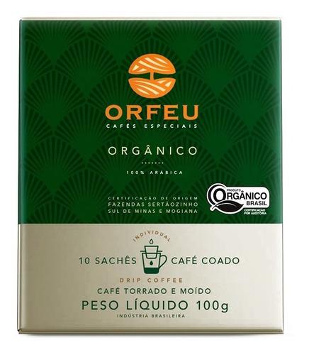Imagem 1 de 4 de Café Em Sachê Orfeu Orgânico 10 Sachês Drip Coffee