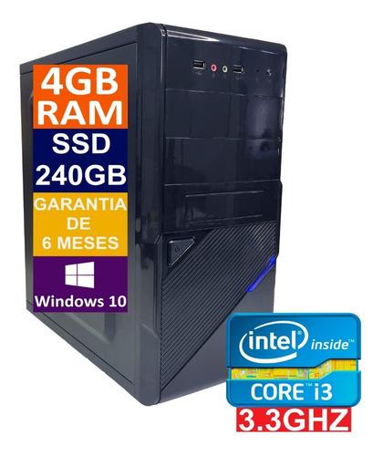 Pc Computador Cpu Intel Core I3 Ssd 240gb / 4gb Memória Ram