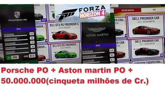 Porsche Po + Aston Martin Po + Créditos Para Forza Horizon 4