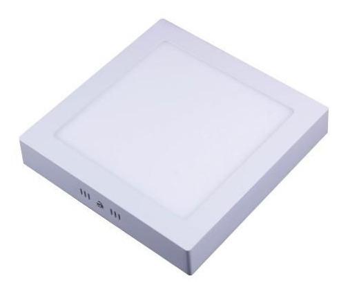 Spot Led De Sobrepor Quadrado Branco 18w 3000k - Bivolt