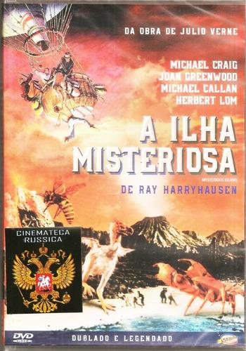 Dvd A Ilha Misteriosa, Conf Obra Julio Verne -  1961 Dublado