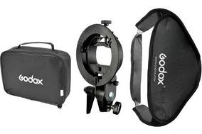 Softbox Godox 60x60cm Suporte Bracket Flash Speedlite (nfe)