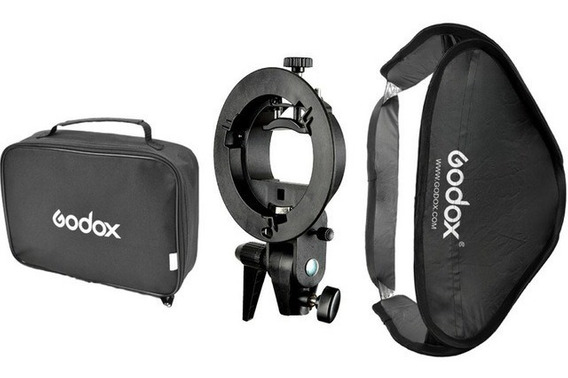 Softbox Godox 60x60cm Suporte Bracket Flash Speedlite (nf)